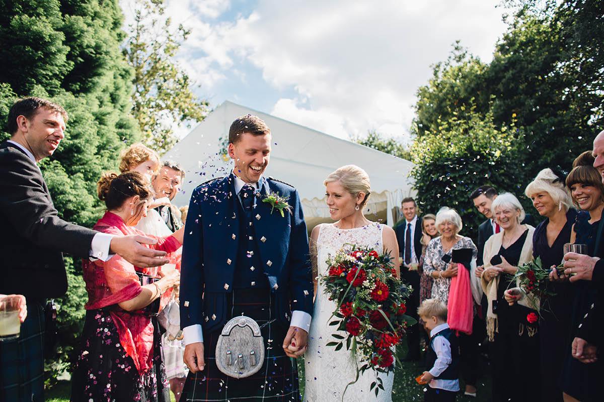 Parley Manor Wedding - Flower Petal Confetti