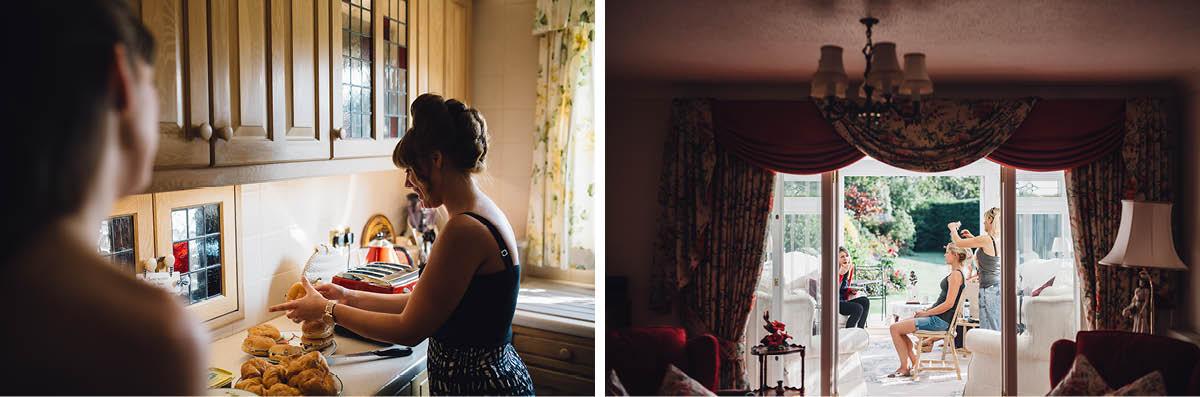 Parley Manor Wedding - Bride Getting Ready