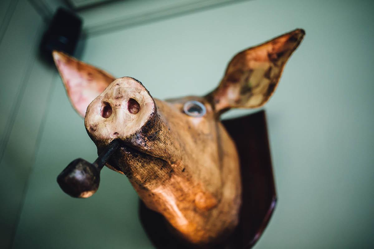 Pig Hotel Brockenhurst Wedding Pig Head