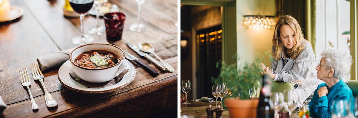 Pig Hotel Brockenhurst Wedding Food