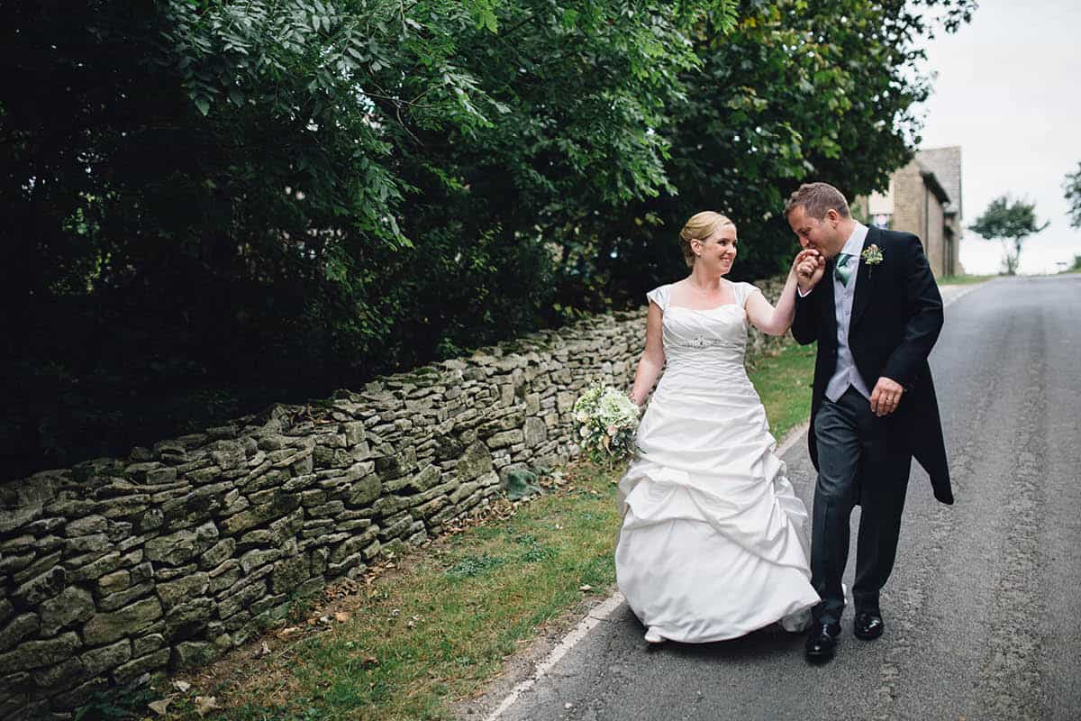 Kingston Country Courtyard Wedding Photographer - Walking together