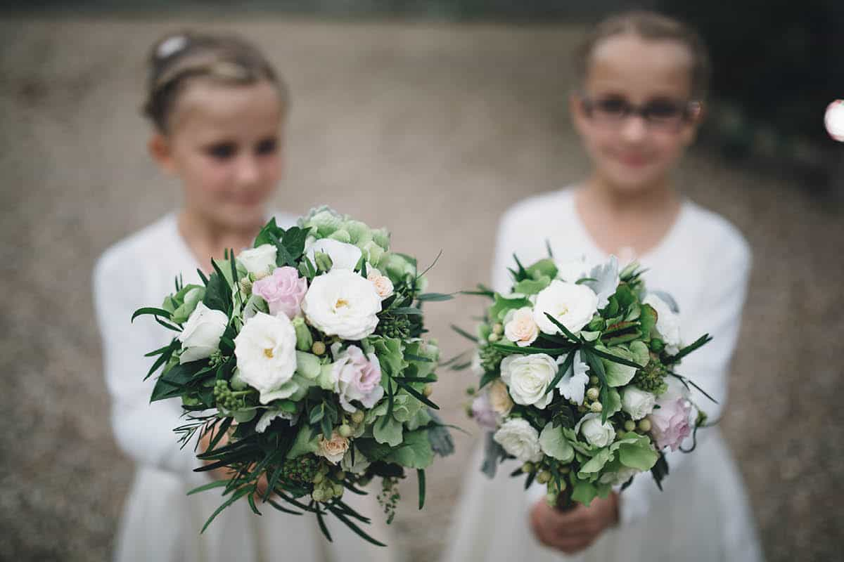 Kingston Country Courtyard Wedding Photographer - Flower girl bouquets