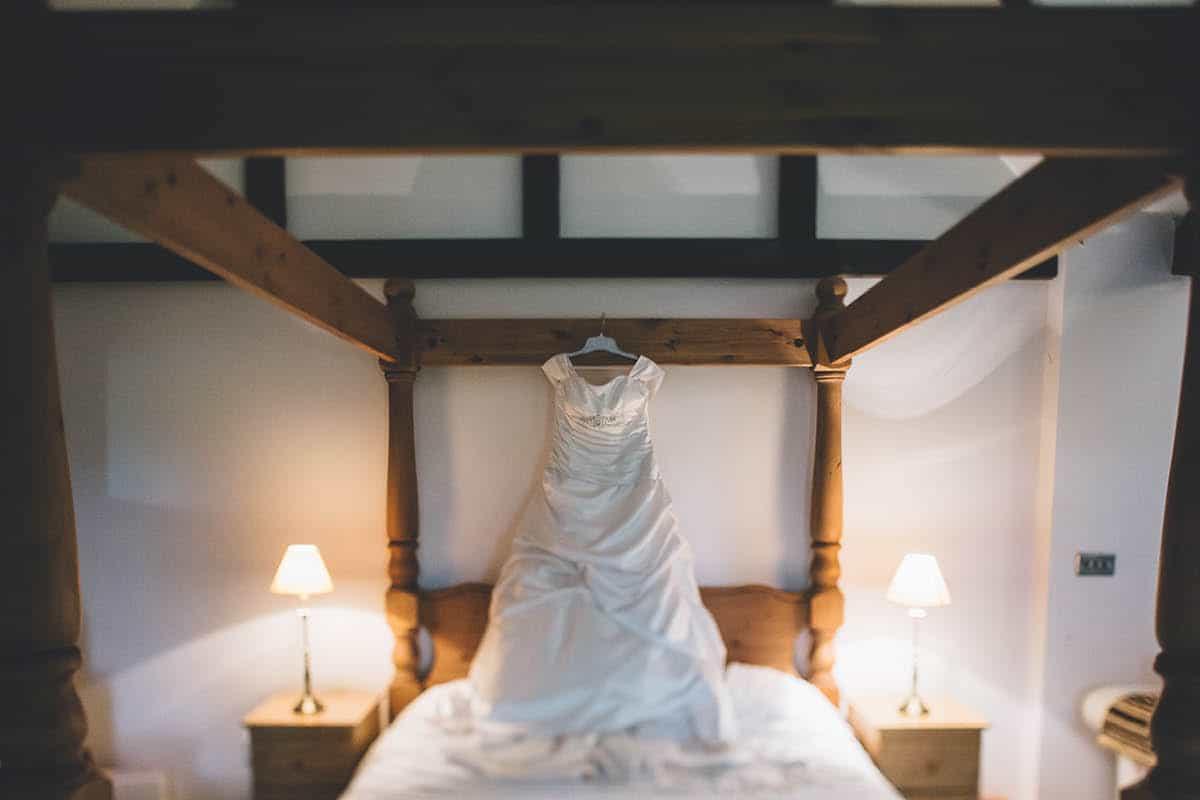 Kingston Country Courtyard Wedding Photographer - Wedding Dress