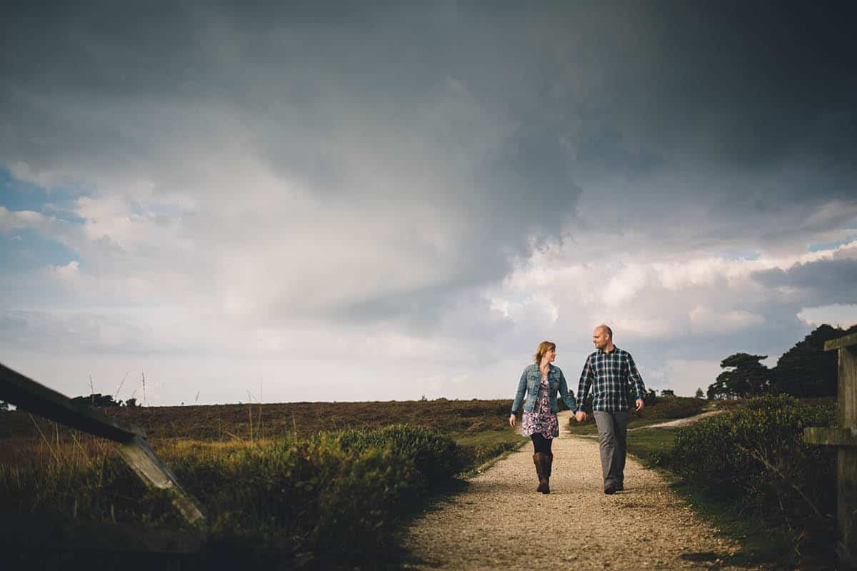 New Forest Engagement Photography - CLouds coming
