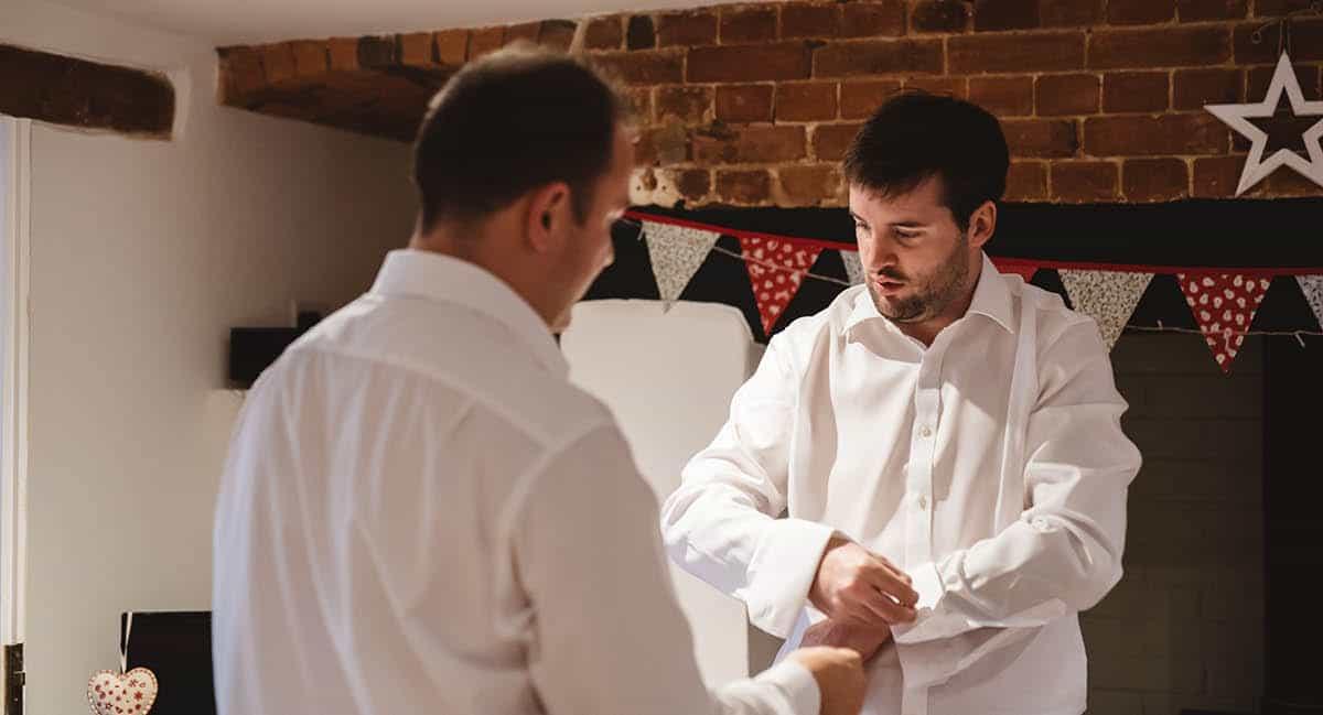 Larmer Tree Winter Wedding - Groom Prep