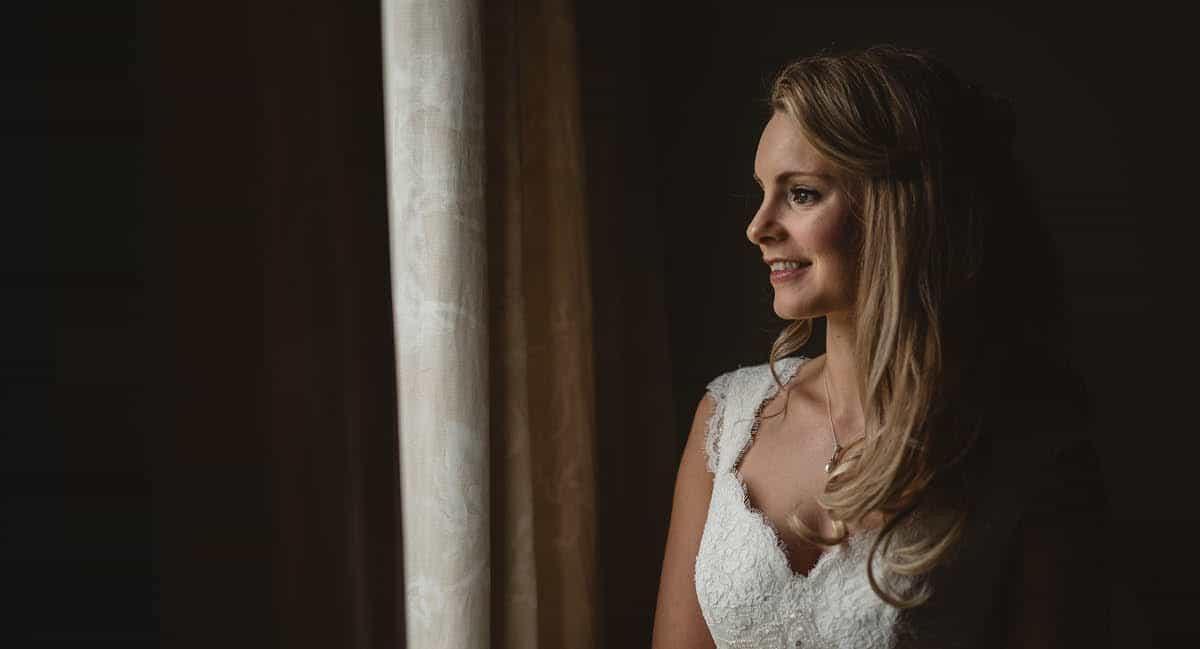 Larmer Tree Winter Wedding - Bride