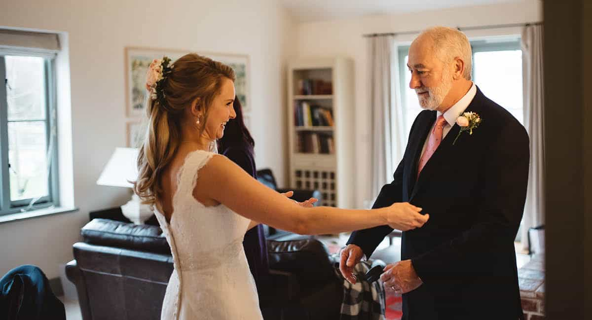 Larmer Tree Winter Wedding - Father of the Bride