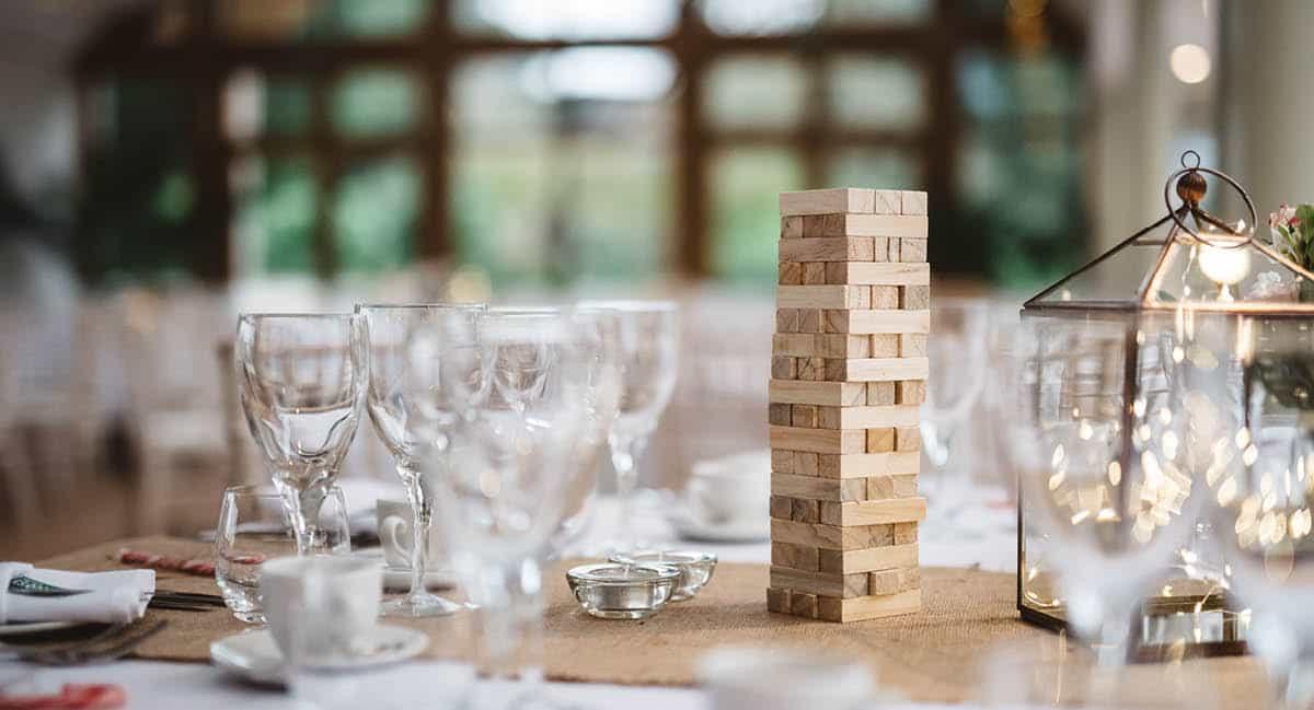 Larmer Tree Winter Wedding - Table Details