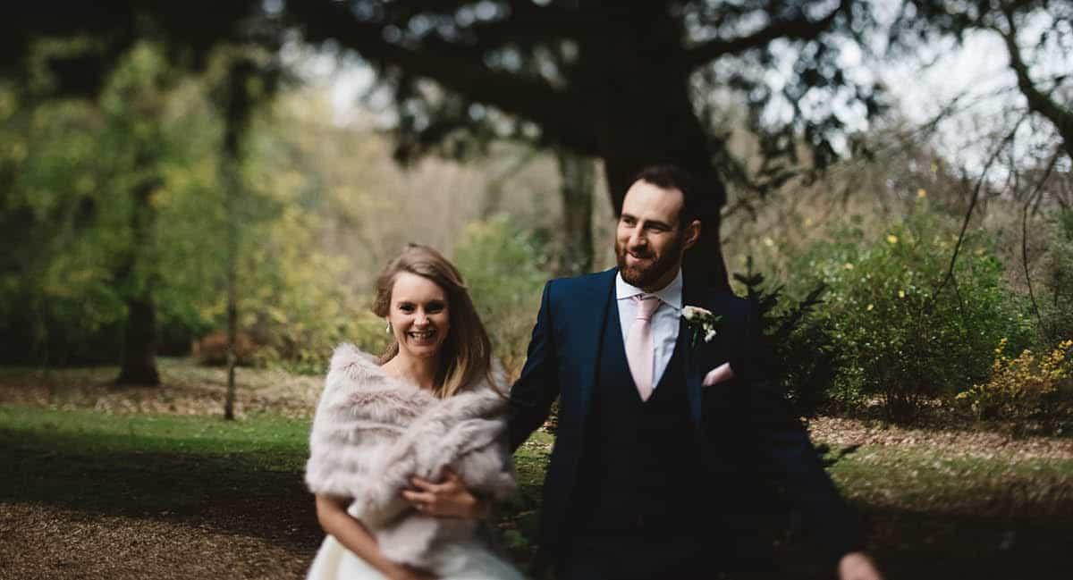 Larmer Tree Winter Wedding - Exploring the Gardens