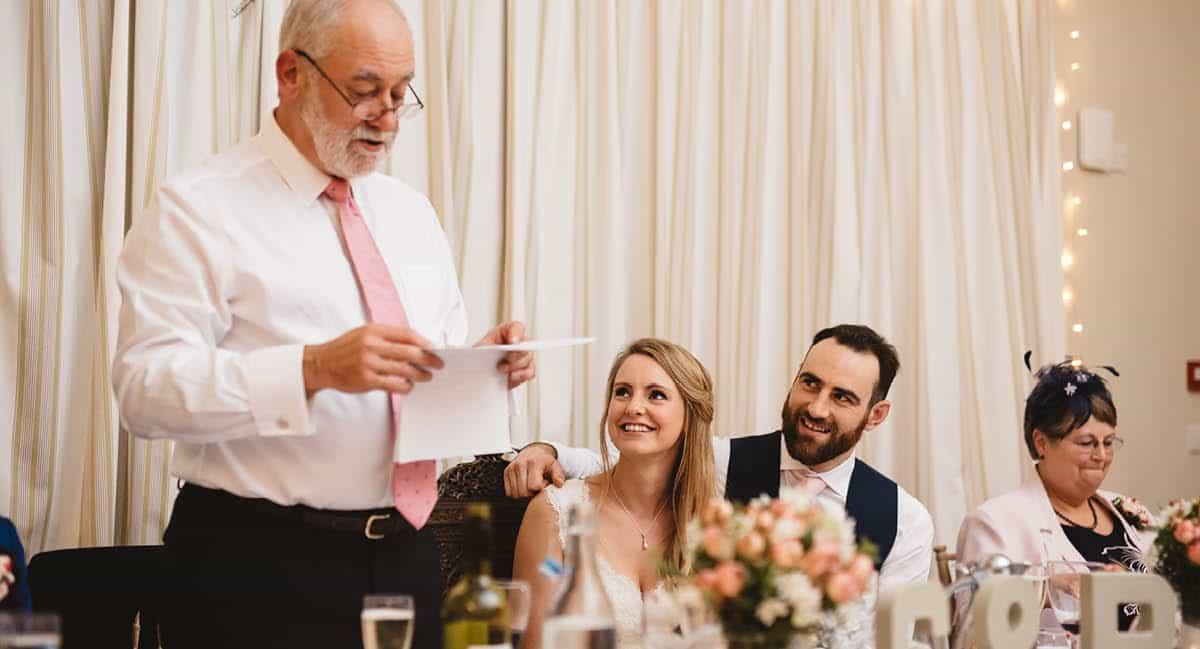 Larmer Tree Winter Wedding - Speeches
