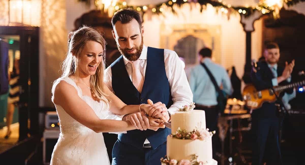 Larmer Tree Winter Wedding - Cake Cutting