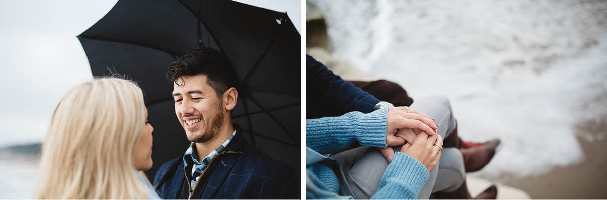 dorset engagement photography - highcliffe beach love